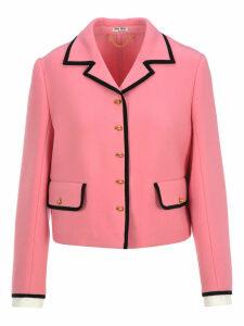 Miu Miu Contrast Piping Jacket