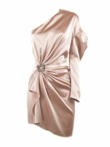 Alexandre Vauthier Powder Silk Blend Mini Dress