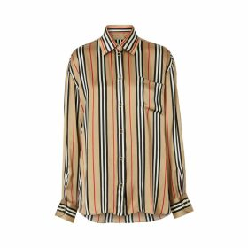 Burberry Godwit Long Sleeves Silk Shirt