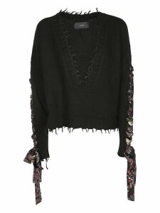 Alanui Bandana Lace-up Sweater