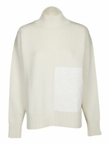 Jil Sander Floral Patch Turtle Neck