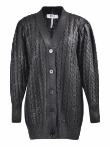 MSGM Wool Blend Shiny Cardigan