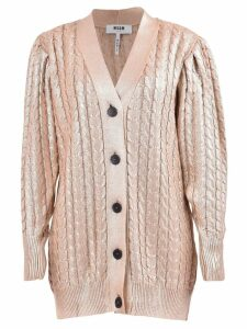 Wool Blend Shiny Cardigan