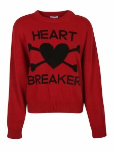 RED Valentino Heart Breaker Sweater