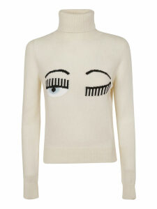 Chiara Ferragni Turtleneck Flirting Sweater