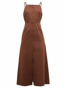 Cult Gaia - Giana Cotton Blend Midi Dress - Womens - Brown
