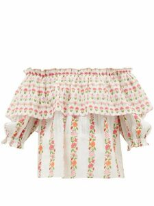 Beulah - Ridhi Floral-print Cotton Top - Womens - Multi