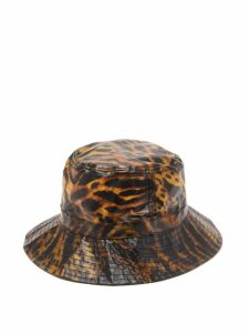Ganni - Tiger-print Biodegradable Bucket Hat - Womens - Multi