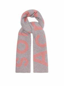 Acne Studios - Toronty Intarsia Wool Blend Scarf - Womens - Grey