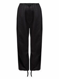 The Row - Attie Cotton Sateen Wide Leg Trousers - Womens - Black