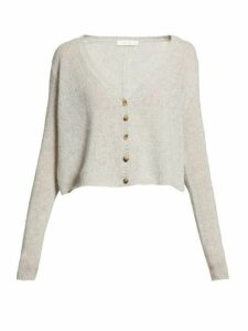 The Row - Abigael V Neck Cashmere Cardigan - Womens - Light Grey