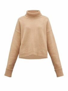 Maison Margiela - Roll Neck Wool Blend Sweater - Womens - Camel