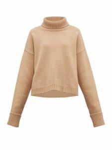 Maison Margiela - Roll Neck Wool Blend Sweater - Womens - Camel