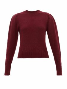 Isabel Marant - Colroy Pleated Shoulder Cashmere Sweater - Womens - Burgundy
