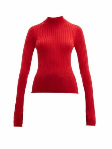 Acne Studios - Kulia High-neck Ribbed Wool Sweater - Womens - Red