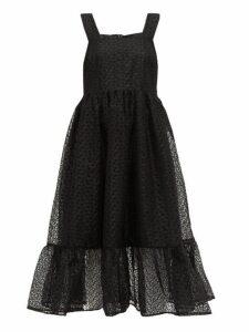 Shrimps - Sylvia Floral-organza Pinafore Dress - Womens - Black