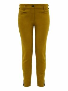 Ann Demeulemeester - Slim Leg Stretch Jersey Trousers - Womens - Green