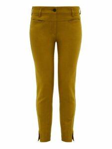 Ann Demeulemeester - Slim-leg Stretch-jersey Trousers - Womens - Green