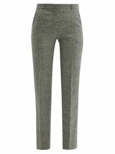 Pallas X Claire Thomson-jonville - Fulham Prince Of Wales Wool Trousers - Womens - Grey Multi