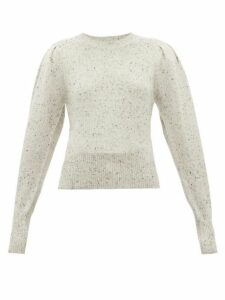 Isabel Marant - Colroy Puff Sleeve Cashmere Sweater - Womens - Light Grey
