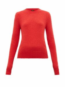 Isabel Marant - Flora Padded-shoulder Mohair-blend Sweater - Womens - Red