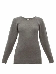 Stella Mccartney - Side Zip Wool Sweater - Womens - Dark Grey