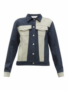 Jw Anderson - Patchwork Tweed Jacket - Womens - Navy White