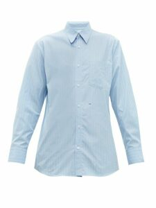 A.p.c. - X Suzanne Koller Codeo Striped Cotton Shirt - Womens - Light Blue