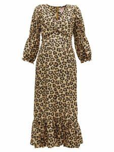 Shrimps - Rosemary Leopard-print Silk Dress - Womens - Leopard