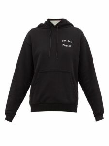 Holiday Boileau - Logo Print Cotton Jersey Hooded Sweatshirt - Womens - Black