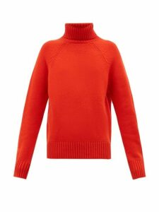 Holiday Boileau - Mick Roll-neck Wool Sweater - Womens - Red