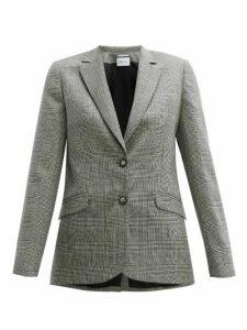 Pallas X Claire Thomson-jonville - Fidji Single-breasted Wool Blazer - Womens - Grey Multi