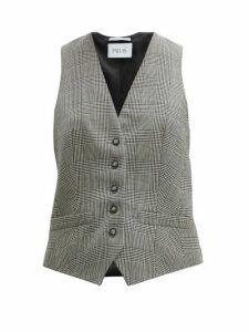 Pallas X Claire Thomson-jonville - Prince Of Wales-check Wool Waistcoat - Womens - Grey Multi