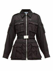 Prada - Belted Padded Nylon Utility Jacket - Womens - Black
