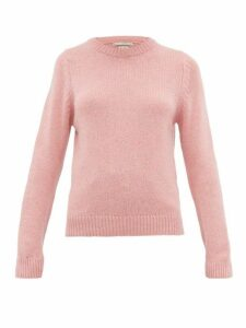Queene And Belle - Tushingham Crown-embroidered Cashmere Sweater - Womens - Pink