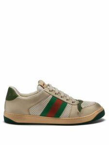 Gucci - Screener Leather Low-top Trainers - Womens - Green White
