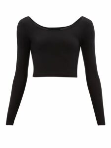 Wone - Long-sleeved Stretch-jersey Performance Top - Womens - Black