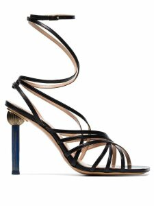 Jacquemus Black Pisa strappy leather sandals