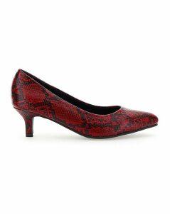 Flexi Sole Kitten Heel Shoes E Fit