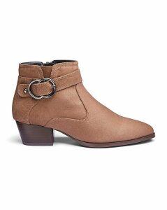 Trim Detail Western Boots EEE Fit
