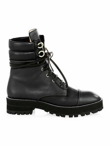 Lexy Leather Combat Boots