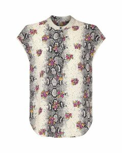 Yumi Curves Animal and Floral Top
