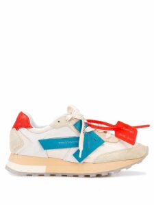 Off-White suede detailed Runner sneakers