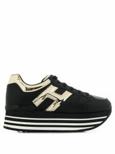 Hogan Maxi H222 platform sneakers - Black