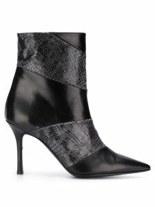 Marc Ellis panelled heel ankle boots - Black