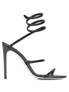 René Caovilla embellished Cleo sandals - Black