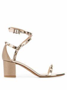 Valentino Valentino Garavani Rockstud grainy leather 60mm sandals -
