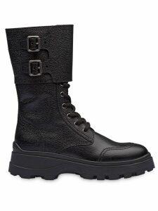 Miu Miu side buckle chunky boots - Black