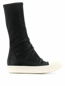 Rick Owens slouch style sneaker boots - Black