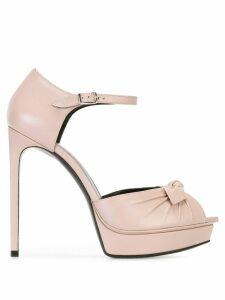 Saint Laurent Jane bow sandals - Pink